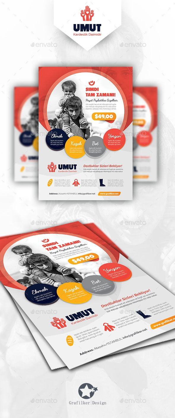 Charity Flyer Template PSD #design Download: http://graphicriver.net/item/charity-flyer-templates/14232620?ref=ksioks