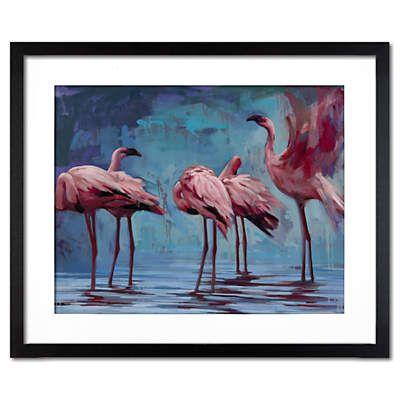Flamingos Gather  Artist: Katherine Fraser