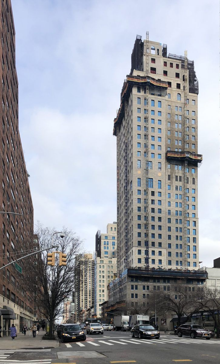Stone Facades Progressing On Beckford Tower And House On The Upper East Side New York Yimby Peterman In 2020 Skyscraper Architecture Facade New York City Buildings