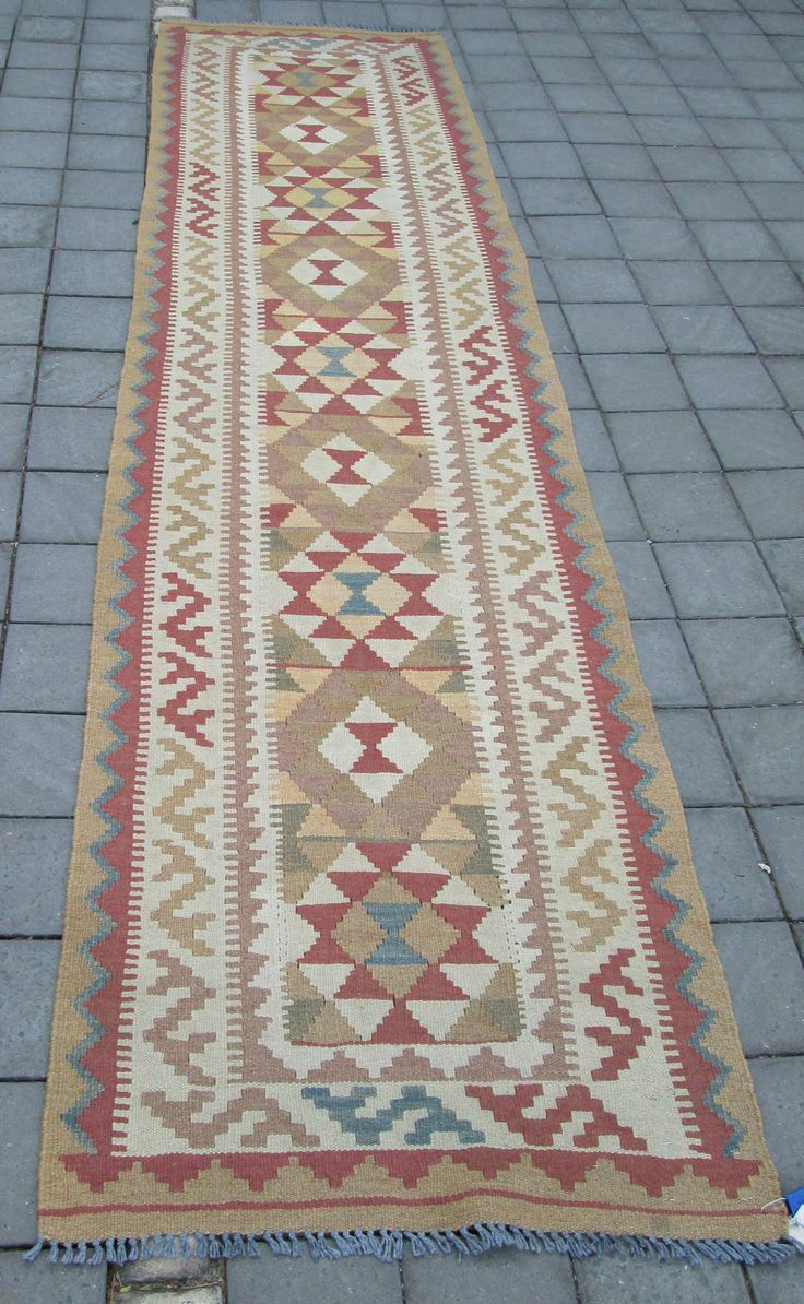 In Store - Veg Dye Kelim Runner - 292 x 73cm - Inside Out Home Boutique