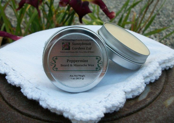 Peppermint Beard and Mustache Wax, handcrafted, all natural, vegan friendly, cruelty free