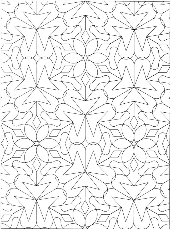 creative haven geometric allover patterns coloring book printable adult coloring pagescoloring