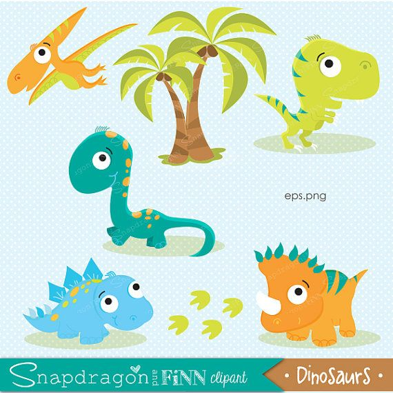 Dinosaurio Imágenes Prediseñadas por snapdragonandfinn en Etsy