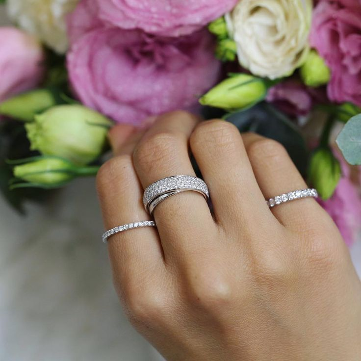 Diamond ring stack // KL Diamonds
