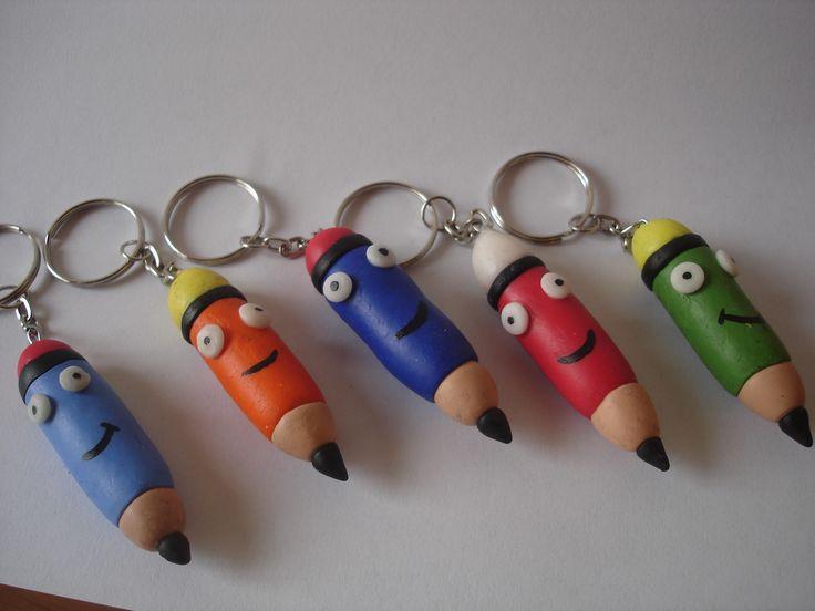 Más lápices llaveros