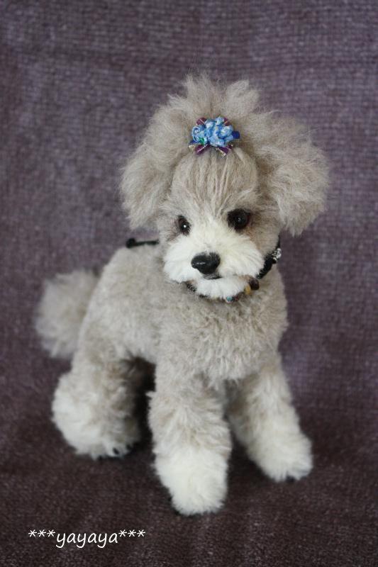 needle felt Poodle by yayaya