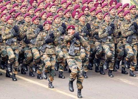 Indian Army Para Commandos on parade.