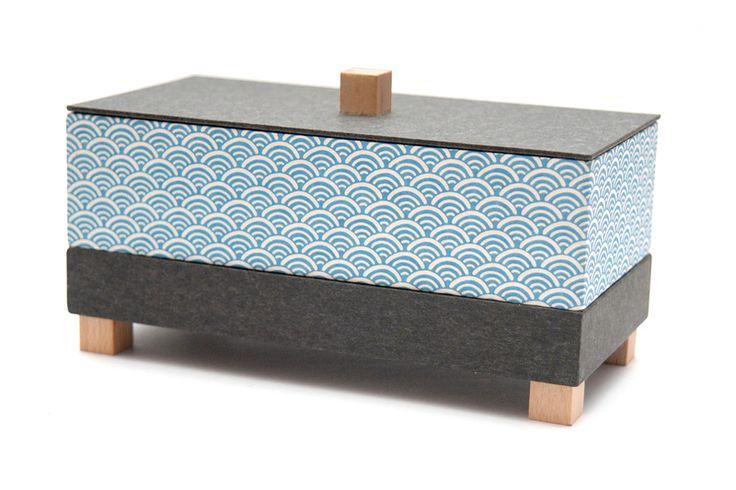 Schmuckkästchen - Mittlere Schmuckschatulle  *Wellen* - ein Designerstück von EllePapelle bei DaWanda