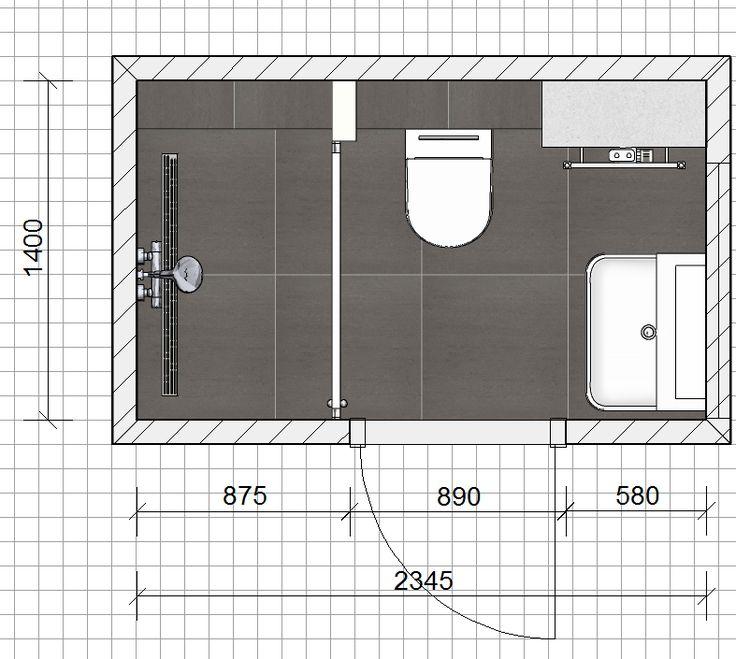 Deze badkamer heeft een afmeting van 2 34 x 1 40 meter for Planner badkamer
