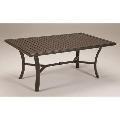 """Tropitone Banchetto Dining Table Finish: Parchment, Table Size: 66"""" x 42"""""""