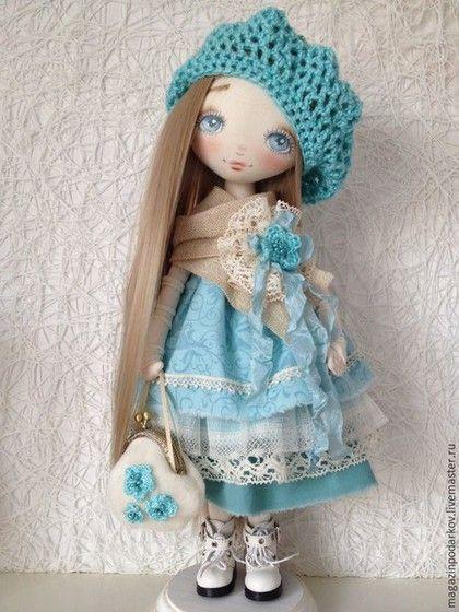 Muñecas de colección hechos a mano. Masters Feria - hecho a mano. Comprar Christina Doll. Hecho a mano. Turquesa, Vivienda y del Interior