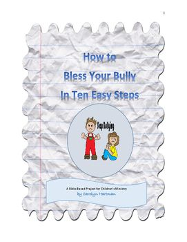 This unit, intended to help children both understand and deal with bullying behavior, includes enough material for ten to sixteen hour-long lessons.  Each session presents a Bible hero and his struggles with either being a bully or a victim of bullying.