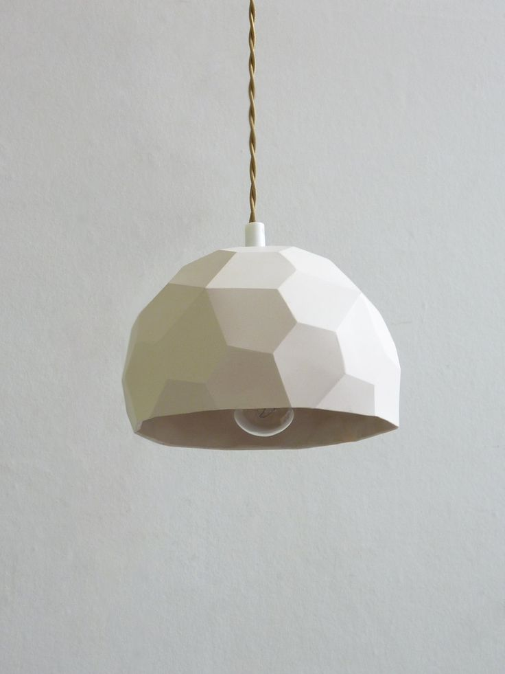 Geometric Pendant Light from Raw Dezign Studio.
