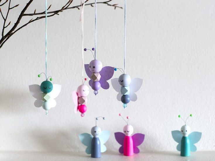 DIY – Butterfly made from wooden beads