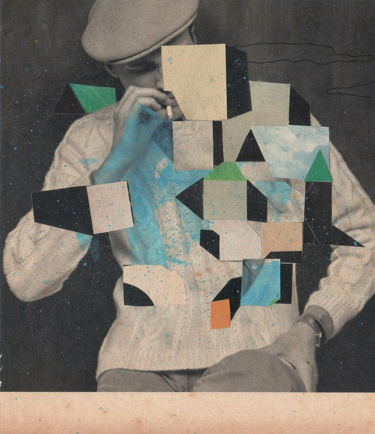 Javier Castro: Fumador, 2013 #contemporaryart #geometric #collage