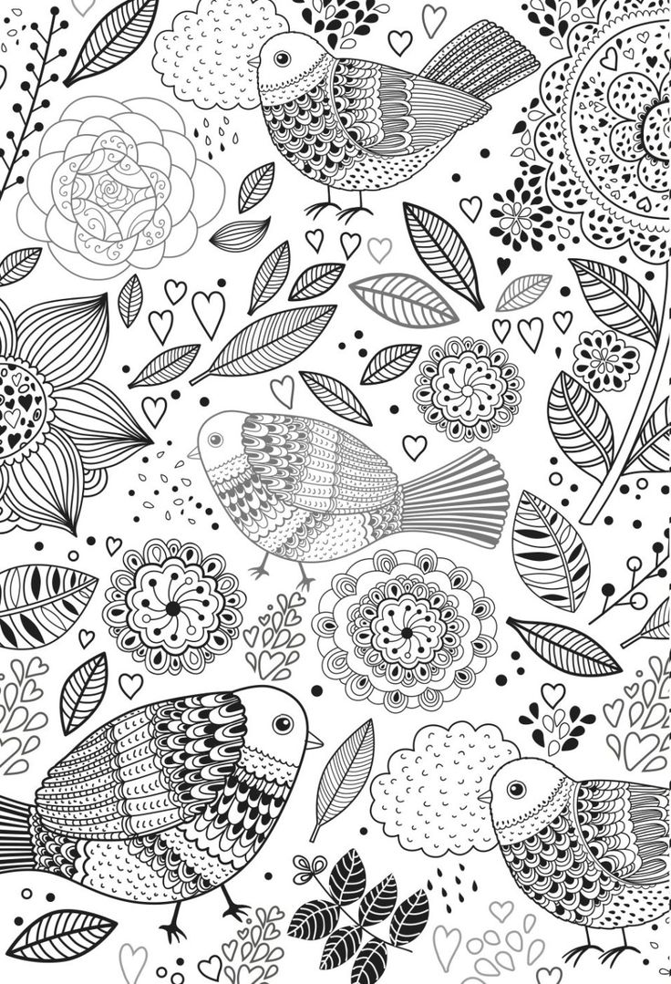 Stress relief coloring sheets free - Colouring Books For Adults