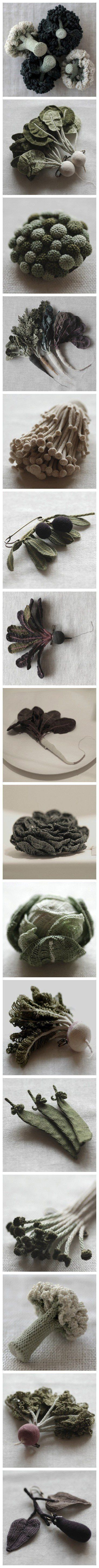 Knitted Vegetables by Jung-jung.