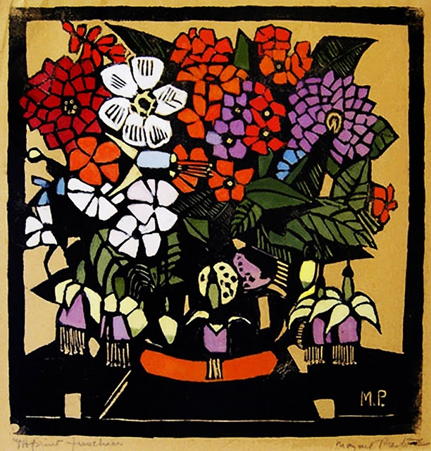 """Fuchsias"" from 1928 - Margaret Preston"