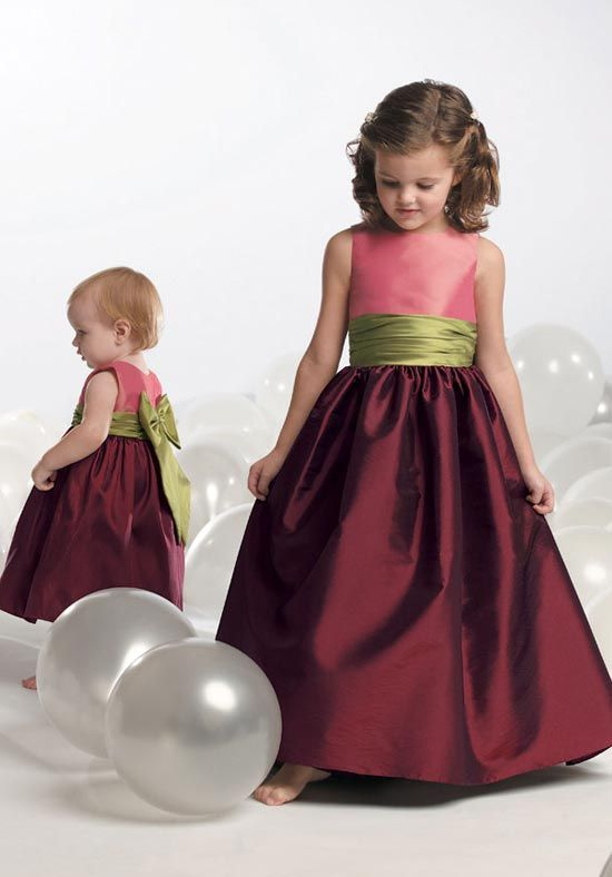2014 Faddish Colourful Sash With Bowknot Satin Floor Length Cheap Dress  at Affordable Prices