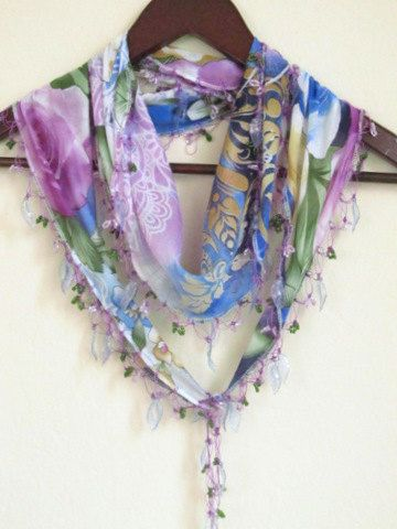Traditional Flowers Turkish Oya Scarf by asuhan on Etsy, $19.80