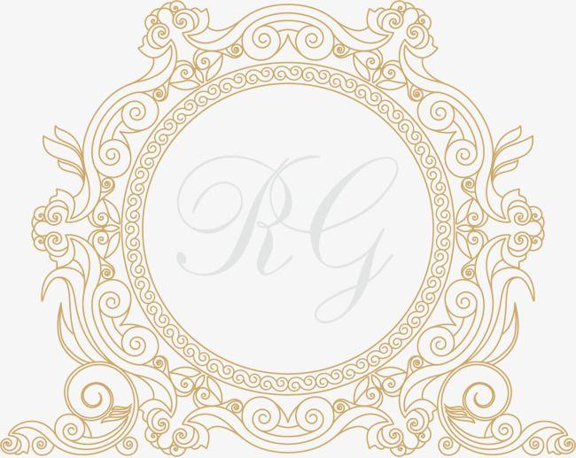 إطارات ذهبية القاري ناقلات تصميم إطار الصورة ريترو قاري Png وملف Psd للتحميل مجانا Frame Design Frame Picture Frames