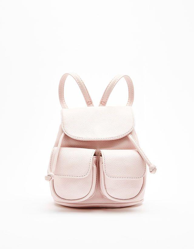 2 Pocket Mini Backpack from Bershka £15,99