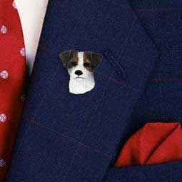 jack russell pin black and white