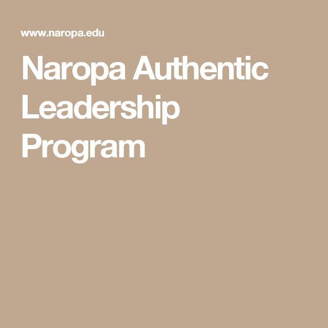 Naropa Authentic Leadership Program