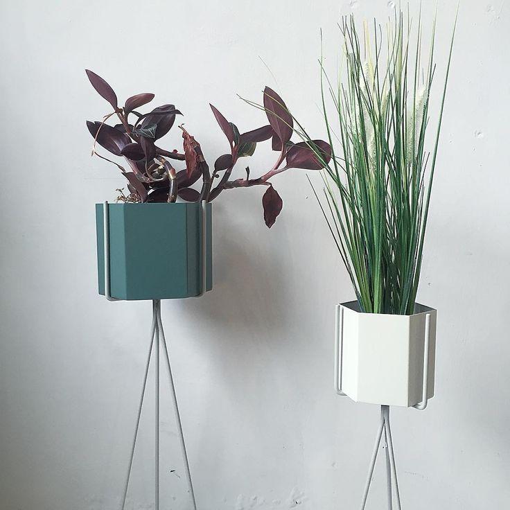 ferm living hexagon pots and plant stands. Black Bedroom Furniture Sets. Home Design Ideas
