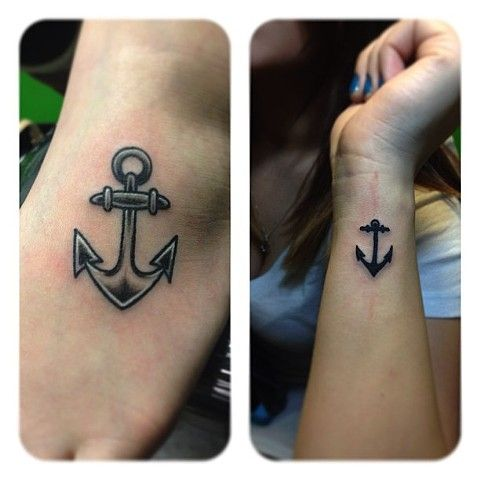 Anchor Tattoos, by Mickey Dee Calligy www.mickeydeetattoos.com #wristtattoo #foottattoo #anchor #anchortattoo #traditionaltattoo
