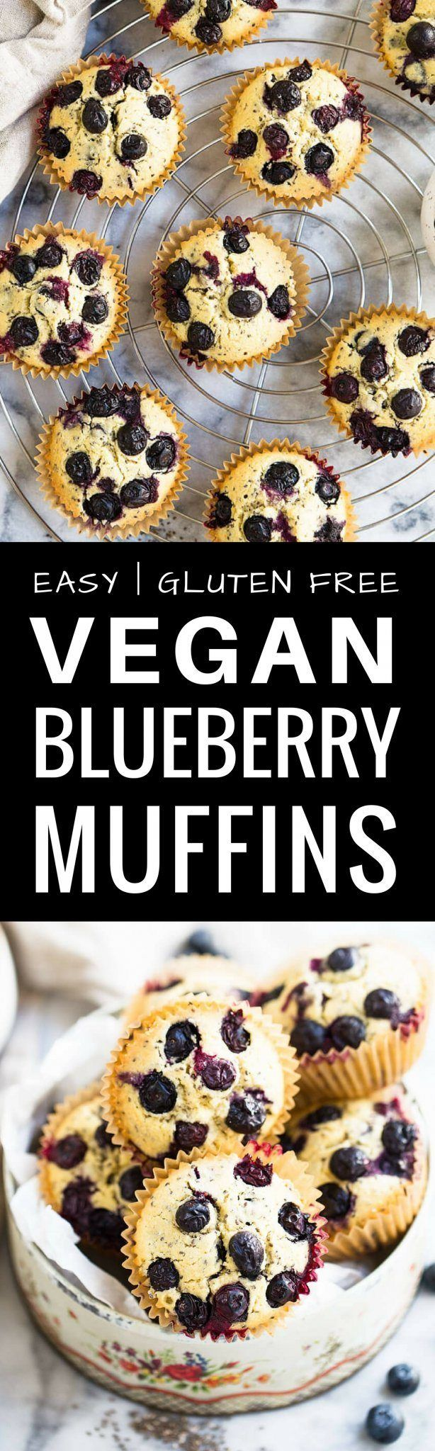 Best Gluten-Free Vegan Blueberry Muffins recipe he…