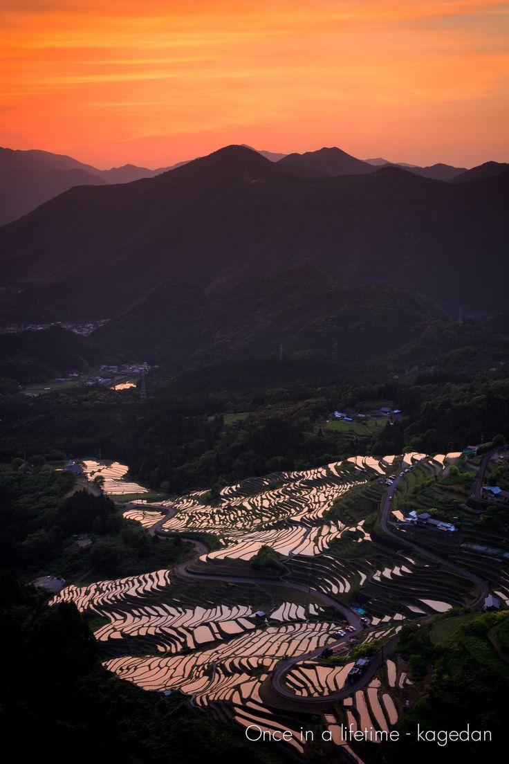 https://flic.kr/p/sAjZHs | 小焼けの棚田 | まだ太陽は山の向こうにあるぐらいでしょうか。この時が一番良い色合いでした、