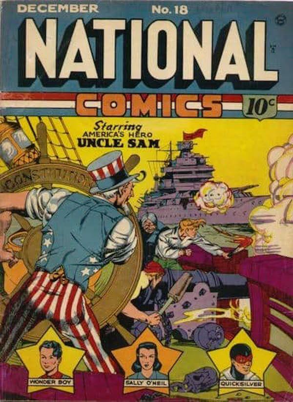 National Cómics predice el ataque a Pearl Harbor. - National Comics contaba con el tío Sam como personaje principal, y en una de sus tiras se muestra un ataque a la bahía de Pearl Harbor, tomo que fue puesto a la venta un mes antes de los sucesos ocurridos.