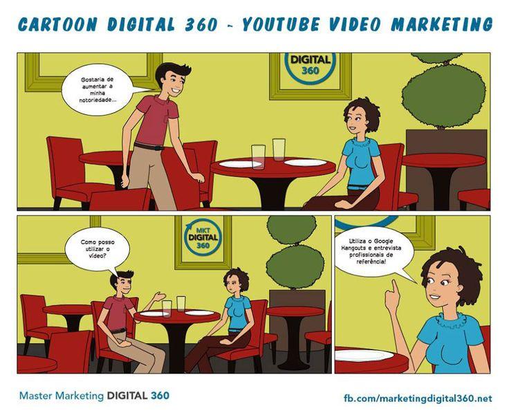 Cartoon Digital 360 - Youtube Vídeo Marketing - Master Marketing Digital 360