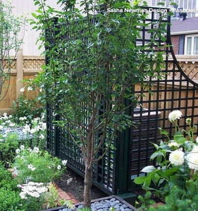 Hide the propane tank? .... 5 Ways to Hide That Big Air Conditioner in Your Yard - Houzz