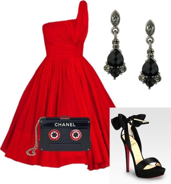 """""""50s Glamour"""" by caroline-a-cowley on Polyvore"""