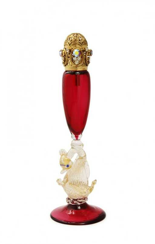 Lot: 1960s DeVilbiss, Italian blown glass atomizer, Lot Number: 0056, Starting Bid: $500, Auctioneer: Perfume Bottles Auction, Auction: Perfume Bottles Auction, Date: April 29th, 2016 EDT