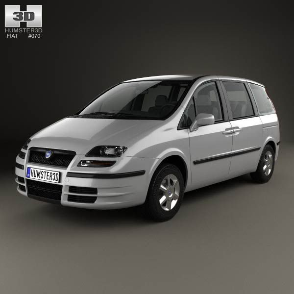 Fiat Ulysse 2002 3d model from humster3d.com. Price: $75