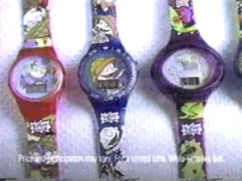 Getting the one Rugrats watch you wanted in your Burger King kid's meal. | 36 GIFs That Will Immediately Take You Back To Your '90s Childhood