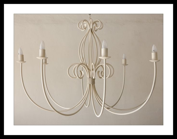 The 'Leanne' light in French white. www.cherylincreations.co.za