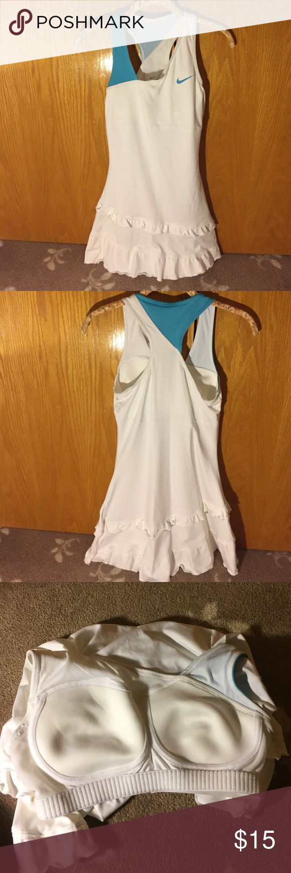 Nike tennis dress Nike tennis dress. In perfect condition. Material has stretch to it. Comes to mid thigh in length. Nike Dresses Mini