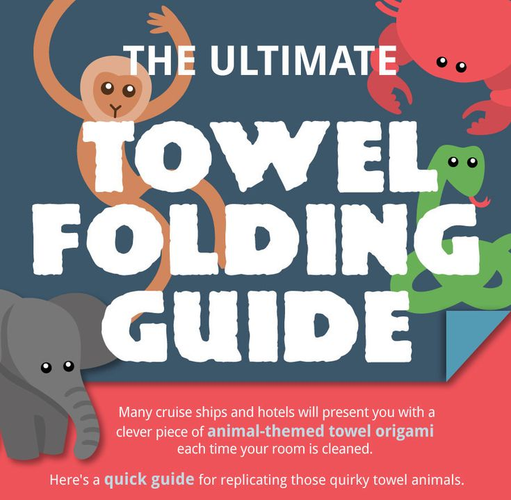 How to Make Towel Animals: Swan, Elephant, Monkey, Mouse, Crab, Snake.