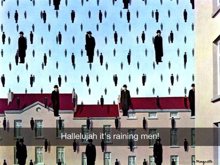 Se i quadri potessero parlare Golconda - René Magritte