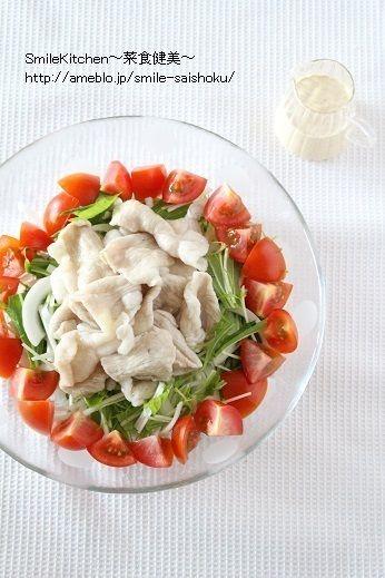 レシピ【疲労回復に!!トマトと豚肉のしゃぶしゃぶサラダ】つくレポ ...