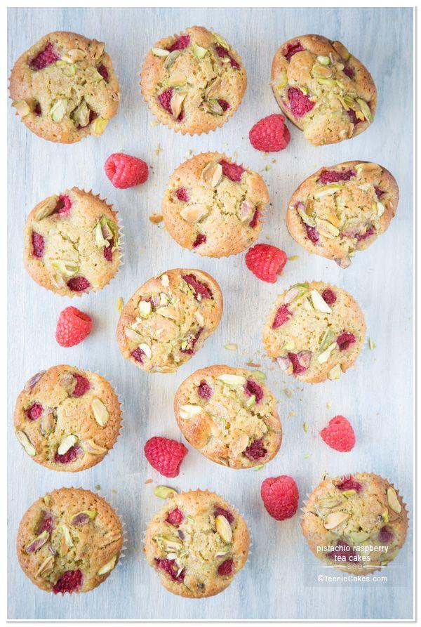 Pistachio Raspberry Tea Cakes (recipe) | TeenieCakes.com