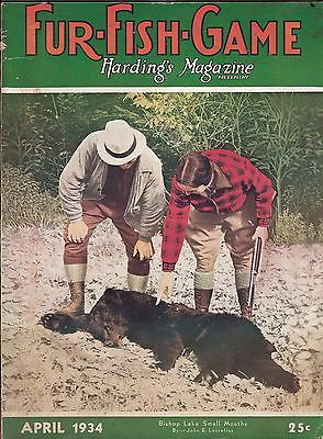 April 1934 fur fish game magazine hunting trapping stories for Fur fish and game
