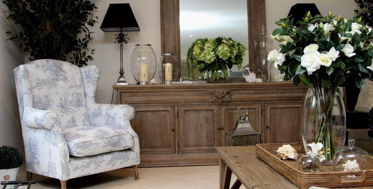 Beautiful custom upholstered wingback chair