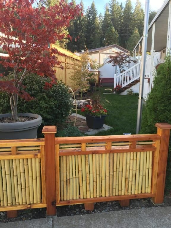 6ft X 6ft Natural 1 Inch Diameter Cali Bamboo Bamboo Fence Backyard Bamboo