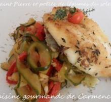 Recette - Saint-Pierre et poêlée de légumes du soleil - Proposée par 750 grammes