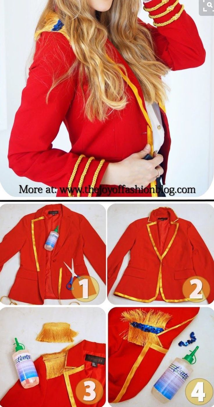 DIY ringmaster jacket                                                                                                                                                                                 More